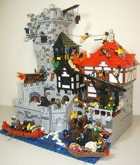 "Pillage the village entry, finished. (Daniel Z ""DNL"") Tags: village lego pirates contest pillage"