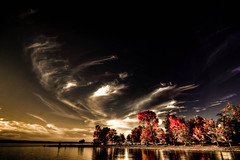 long point ([Adam Baker]) Tags: autumn sunset sky reflection fall clouds dark photography elite cayugalake hdr wisps longpoint photomatix adambaker imageplus karmanominated tokina1116