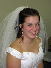 allison is a happy bride