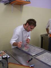 Davide Saputo in lavorazione. Colaggio dello zucchero...
