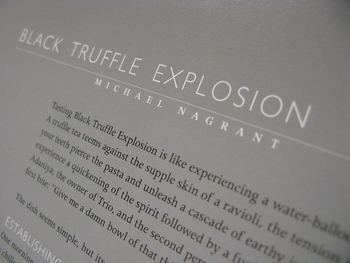 Alinea Cookbook: Black Truffle Explosion
