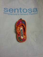 Sentosa slipper keychain 2