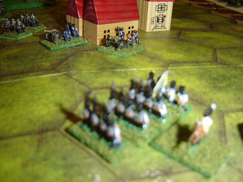 Austrian infantry division cuts off French left flank