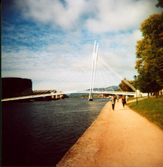 Holga Me In Norway (Nick Today) Tags: bridge 120 film norway analog square holga fuji nick medium format today ypsilon