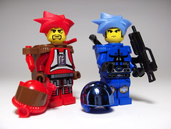 Behind the Mask (Ble Star) Tags: soldier lego fig sig redstorm minifigure