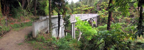 The Bridge to Nowhere on the Mangapurua Track, Whanganui National Park, New Zealand