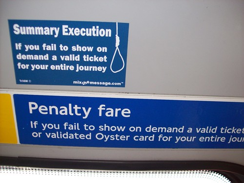 Alternative to Penalty Fare by Peter F