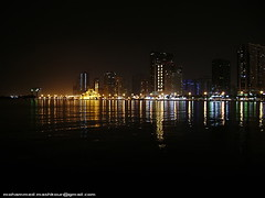 Khaled lake (Mashkour) Tags: water lights sony uae reflaction refliction mashkour dscs700 mohammedmashkour iloveiraq