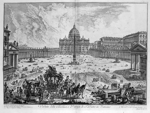 004-Vista de la Basilica y plaza de San Pedro en el Vaticano