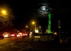 Blue Moon 12/11/08 (getoffyourhorse) Tags: night victoriapark edinburgh streetlamps pinkfloyd motionblur bluemoon butterscotch lemonheads ferryroad afleetingglimps butterscotchstreetlamps