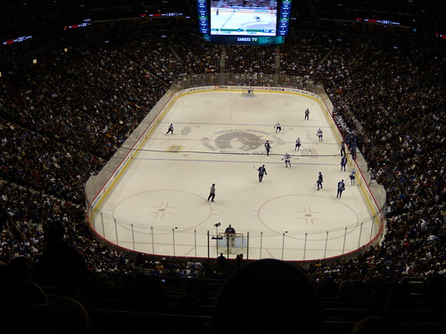 NHL Game, Canucks playing Maple Leafs