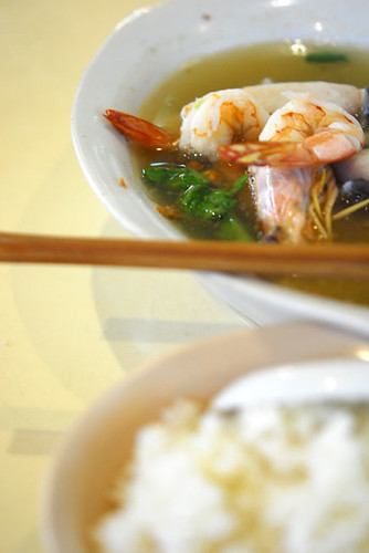 Fish and Prawn soup and rice - DSC_6401