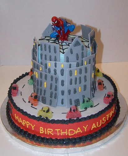 Austin's spiderman cake