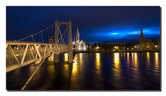 Inverness - Greig Street suspension bridge (Craig Robertson) Tags: city bridge sunrise river scotland highlands bravo suspension footbridge bank 100v10f explore reflexions inverness riverness freenorthchurch aplusphoto greigstreetsuspensionbridge