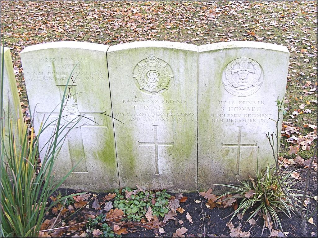 Smyth, O'Neill & Howard, War Graves, Brookwood, R.D.C., R.A.S.C. & Middlesex Regiment
