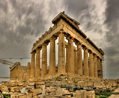 Panorámica HDR del Partenón, Atenas, Grecia