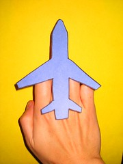 middle finger airplane