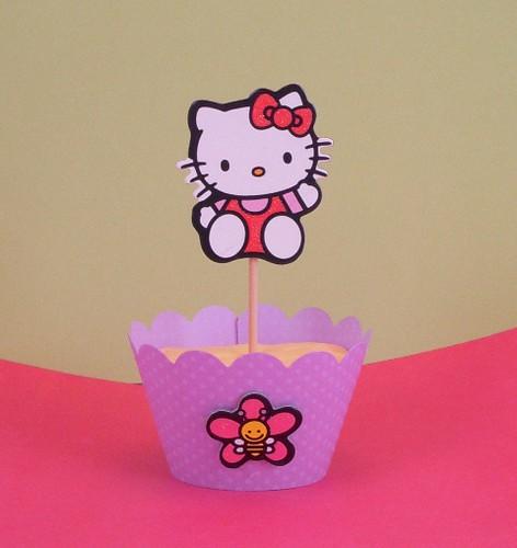 Hello Kitty cupcake pick