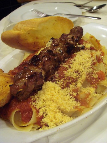 Pasta with lamb@Charcoal