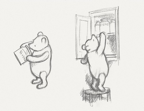 Winnie-the-Pooh -- Two Preparatory Sketches