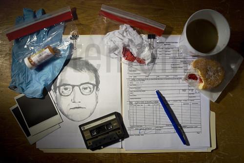 1979 Detectives desk - commercial in studio work