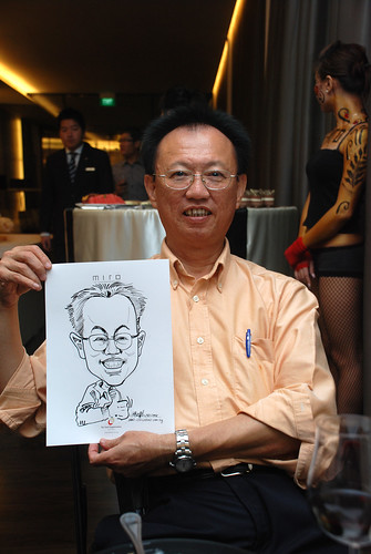 Caricature live sketching for Far East Organisation SPH Media Night The Miro 4