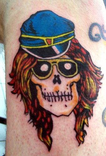 axl rose tattoo guns n roses by Rogermarx. Self tattoo