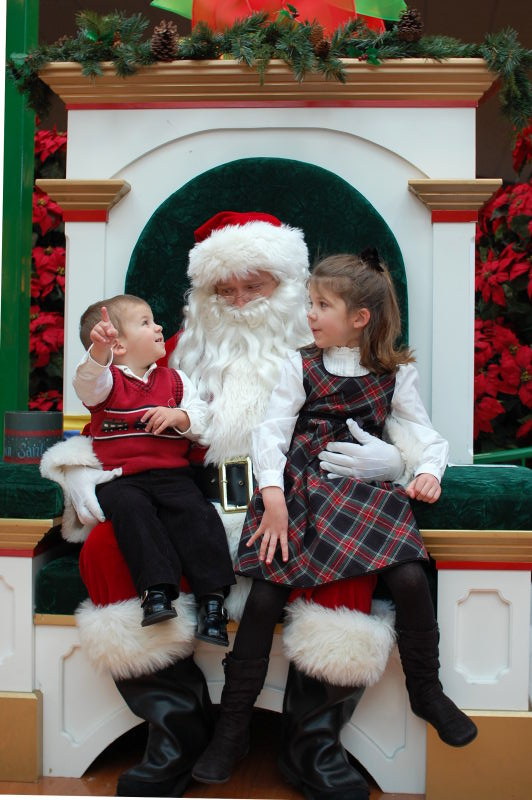Kids with Santa -- Christmas 2008