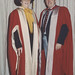 Mrs Margaret Bowman (Honorary degree of Doctor of Letters) and Dr Alan Taylor, the University of Newcastle, Australia -1990