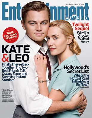 Leonardo DiCarprio and Kate Winslet on Entertainment Weekly