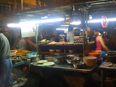 Street Side Food Market At Night