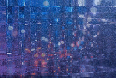 Rainy night traffic (Katy Silberger) Tags: newyork lightpainting photoshop nightshot traffic soe rainynight longislandexpressway nikond60 colorphotoaward