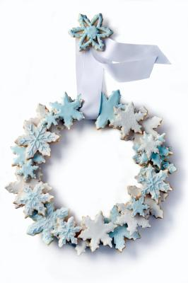 Snowflake Cookie Wreath (courtesy Washington Post)