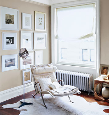 Neutral paint colors: 'Veil Cream' by Benjamin Moore + Corbusier chaise by xJavierx.