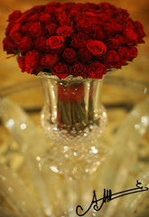 Tu as chang ma vie ,, (A.A.A) Tags: red roses love rose by canon table photography crystal bokeh mark iii vase saintlouis amna lalique eos1ds abdulaziz althani 50mmf12 canoneos1dsmarkiii