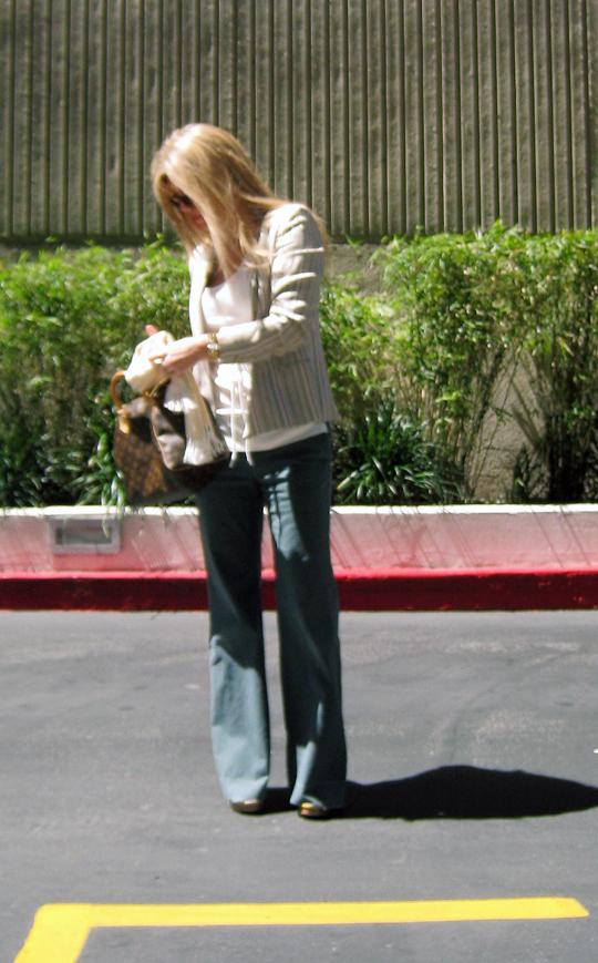 army green wide leg pants+vintage striped sasson blazer+LV bag-6