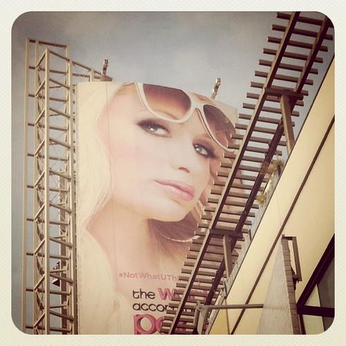 The World According to Paris Hilton sign ad advertisement billboard drollgirl