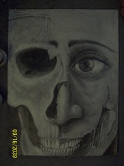 Two Faced (indiascott11) Tags: india art face scott skull