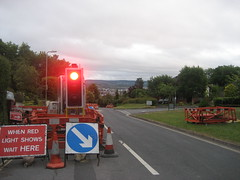 Day 1204: Roadworks (Manic Street Preacher) Tags: road cycling trafficlight roadworks exeter project365