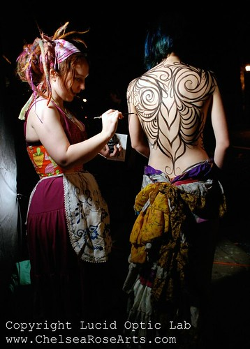 Live Body painting @ Theoria Gallery