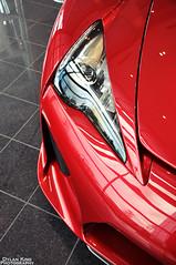 Lexus LFA (Dylan King Photography) Tags: road red canada vancouver ceramic nikon open bc britishcolumbia wheels gray richmond brakes carbon fiber rims dealership lfa lexus 2011 d90