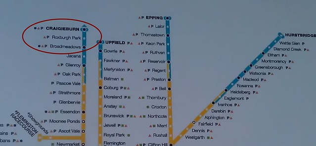 Southern Cross Station - train network map still missing Coolaroo