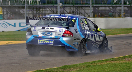 Clipsal500 Tire Blowout