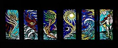 Creation Sequence (Aidan McRae Thomson) Tags: windows church glass rugby contemporary stainedglass stained bilton sacredheart aidanmcraethomson