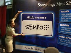 Sara Holoubeck SEMPO Booth