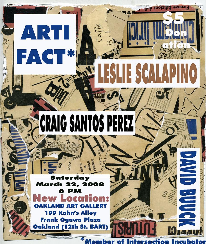 David BUUCK Craig Santos PEREZ Leslie SCALAPINO ARTIFACT