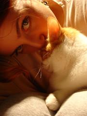 Kitty Love (Jess*Lo) Tags: friends cute love girl female cat cozy furry warm friendship sweet kitty care