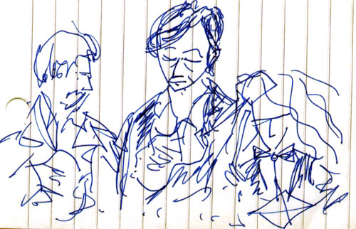 sketch of bill callahan at the mohawk