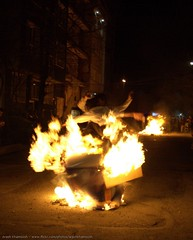 Clash On Fire 1 (Arash_Khamoosh) Tags: night fire smash jump jumping iran clash flame conflict strike tehran tilt encounter chaharshanbesoori chaharshanbesuri shahrakegharb confliction