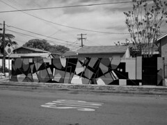 Pusher MSK SeventhLetter Black & White (anarchosyn) Tags: art graffiti blackwhite losangeles push awr msk pusher seventhletter pushe seventhdayproject